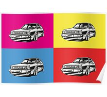 Volkswagen Golf Car Pop art Poster
