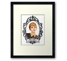 Victoria Portrait (Transparent) - Life is Strange Framed Print