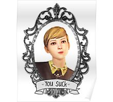 Victoria Portrait (Transparent) - Life is Strange Poster