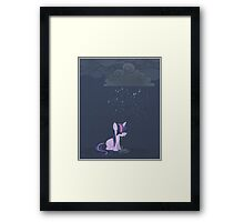 Rainy day pony Framed Print