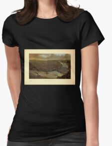 Panoramic Maps St Louis Womens Fitted T-Shirt