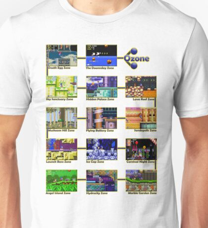 Act 1 - Sonic The Hedgehog Retro Stages Unisex T-Shirt