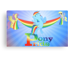 Pony Pride - with text Canvas Print