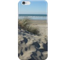 Harlech beach from the sand dunes iPhone Case/Skin
