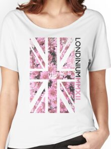 London 2012 - Londinium MMXII Union Jack Floral Women's Relaxed Fit T-Shirt