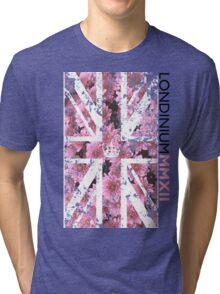 London 2012 - Londinium MMXII Union Jack Floral Tri-blend T-Shirt