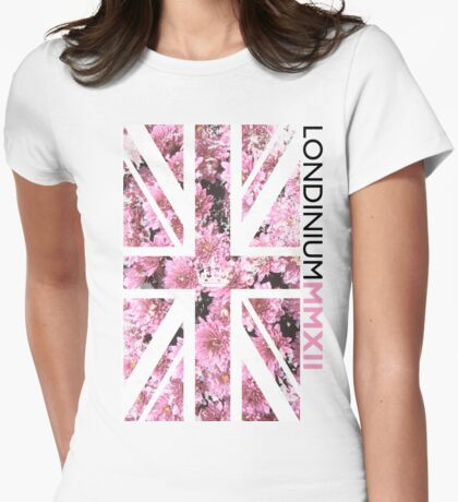 London 2012 - Londinium MMXII Union Jack Floral Womens Fitted T-Shirt