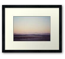 Gloaming desert Framed Print