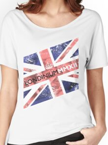 London 2012 - Londinium MMXII Union Jack Rose Women's Relaxed Fit T-Shirt