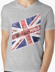 London 2012 - Londinium MMXII Union Jack Rose Mens V-Neck T-Shirt