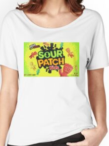 Sour Patch Kids candy package front Women's Relaxed Fit T-Shirt