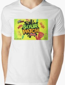 Sour Patch Kids candy package front Mens V-Neck T-Shirt