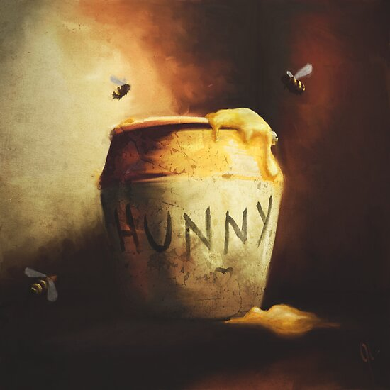 Pooh's Painting by Jason Layman