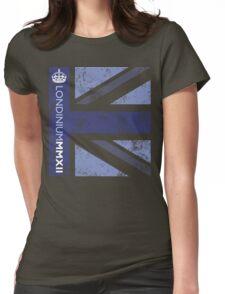 London 2012 - Londinium MMXII Union Jack Blue Womens Fitted T-Shirt