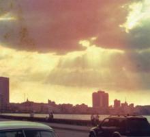 'Sunset Malecón' Sticker