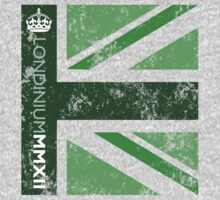 London 2012 - Londinium MMXII Union Jack Green Baby Tee