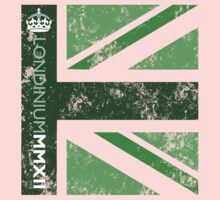 London 2012 - Londinium MMXII Union Jack Green One Piece - Long Sleeve