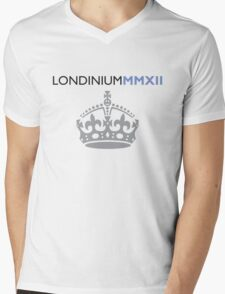 London 2012 - Londinium MMXII Large Crown Mens V-Neck T-Shirt
