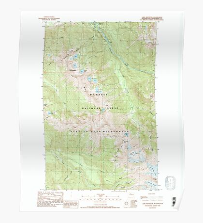 USGS Topo Map Washington State WA Lime Mountain 242006 1988 24000 Poster