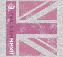 London 2012 - Londinium MMXII Union Jack Pink Kids Tee