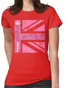 London 2012 - Londinium MMXII Union Jack Pink Womens Fitted T-Shirt