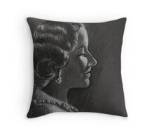Queen Elizabeth The Queen Mother Throw Pillow