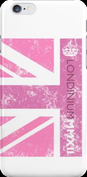 London 2012 - Londinium MMXII Union Jack Pink by Lordy99