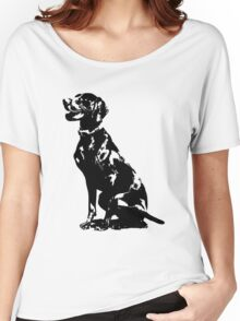 German Pointer Silhouette Women's Relaxed Fit T-Shirt