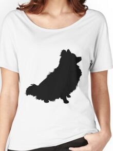 Pomeranian Silhouette Women's Relaxed Fit T-Shirt