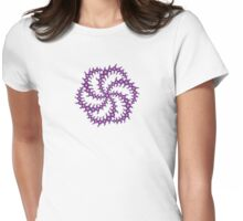 Double Six Sided Triskelion Crop Circle Womens Fitted T-Shirt