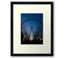 Blue Eye over London Framed Print