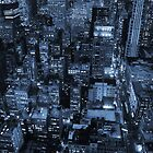 New York skyscrapers, cyanotype by Magdalena Warmuz-Dent