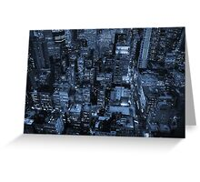 New York skyscrapers, cyanotype Greeting Card