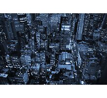 New York skyscrapers, cyanotype Photographic Print