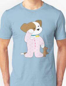 Cute Puppy Pajamas Unisex T-Shirt