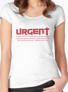 Urgent! Women's Fitted Scoop T-Shirt