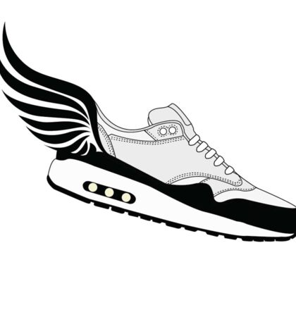 Flying sneaker / air max style Sticker