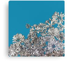 Ocean Blue Flora Canvas Print