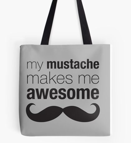 Awesome Mustache Tote Bag