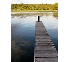 Jetty on the river Thames at Henley Photographic Print