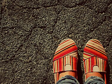 Shoes on  the Cement by kerbear6156