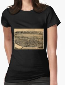 Panoramic Maps Bird's-eye view of Thompsonville now Enfield Connecticut] T-Shirt
