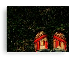 Shoes in the Grass Canvas Print