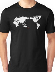 World Map New Zealand Unisex T-Shirt