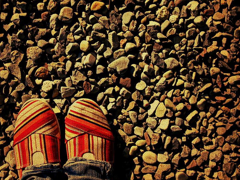 Shoes on the Rocks by Kerri Swayze
