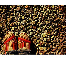 Shoes on the Rocks Photographic Print