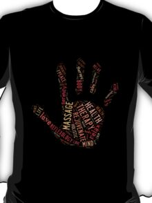 Massage Hand (black) T-Shirt