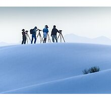 Photographers in the Dunes Photographic Print