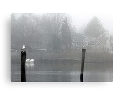 Early morning by the water Canvas Print