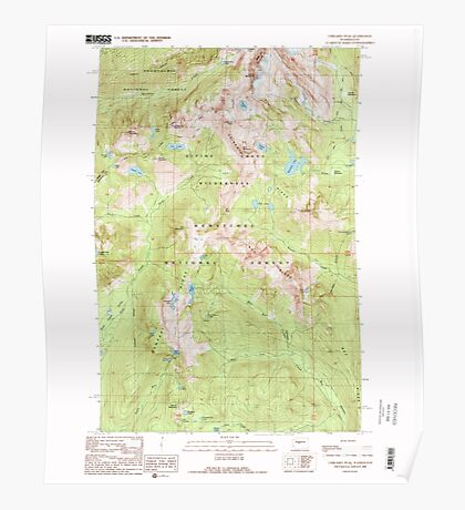 USGS Topo Map Washington State WA Chikamin Peak 240486 1989 24000 Poster